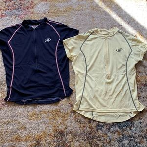 Tops - Performane Navy Blue and Yellow Athletic Shirt Set